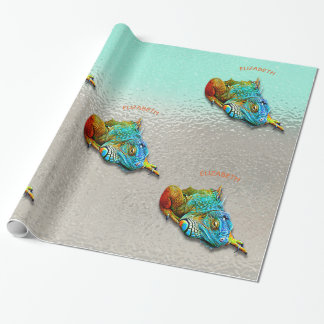 Cool Colorful Cute Rainbow Lizard Reptile Wrapping Paper