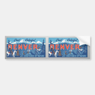 Cool Colorful Denver Air Conditioned By Nature, Vi Bumper Sticker