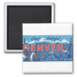 Cool Colorful Denver Square Magnet