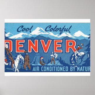 Cool Colorful Denver_Vintage Travel Poster