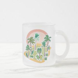 Cool Colorful Desert Oasis and Plants Mugs
