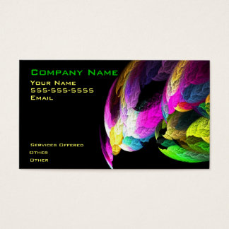 Cool colorful design business card