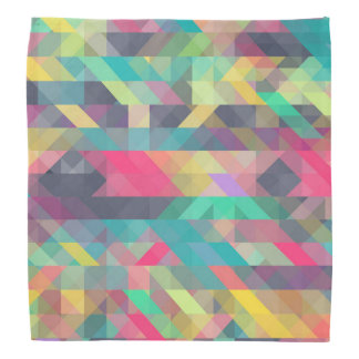 Cool colorful geometric triangles pattern bandana