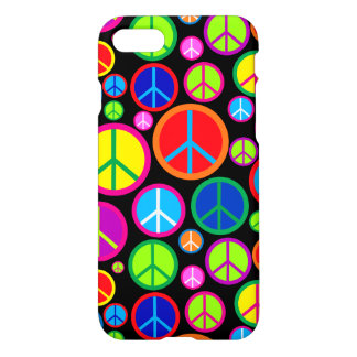 Cool Colorful Groovy Peace Symbols iPhone 8/7 Case