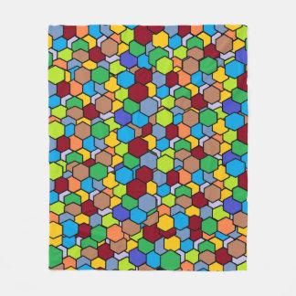 Cool Colorful Hexagon Pattern Fleece Blanket
