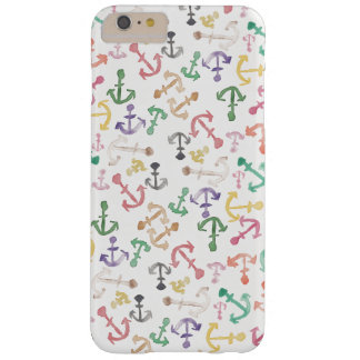 Cool colorful modern watercolor anchor pattern barely there iPhone 6 plus case
