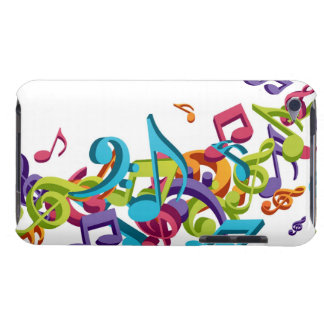 Cool Colorful  music notes & sounds iPod Case-Mate Case