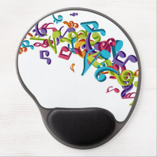 Cool Colorful  music notes & sounds music fashion Gel Mouse Mat