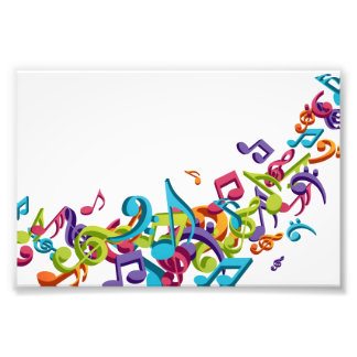 Cool Colorful  music notes & sounds music fashion Photo Art