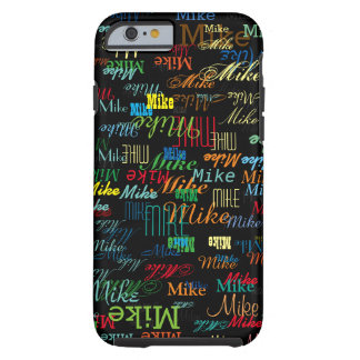 cool colorful name personalized tough iPhone 6 case
