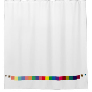 cool colorful palette , color scheme stripe shower curtain