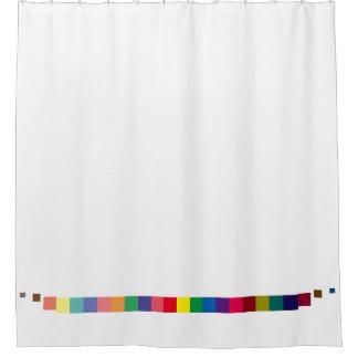 cool colorful palette , color scheme stripe shower curtain