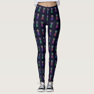 Cool Colorful Pineapples Leggings