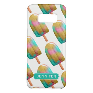 Cool Colorful Popsicle Pattern with Name Case-Mate Samsung Galaxy S8 Case