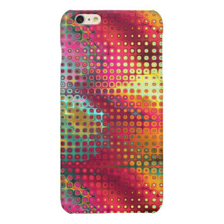 Cool Colorful red, Rainbow of Liquid Dots iPhone 6 Plus Case