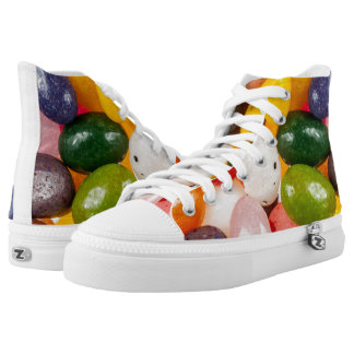 Cool colorful sweet Easter Jelly Beans Candy Printed Shoes