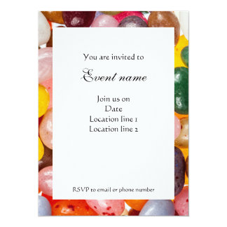 Cool colorful sweet Jelly Beans Candy Invitation