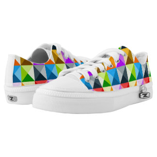 Cool Colorful triangles geometric pattern Low Tops