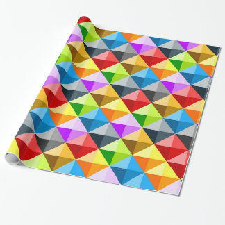 Cool Colorful triangles geometric pattern Wrapping Paper