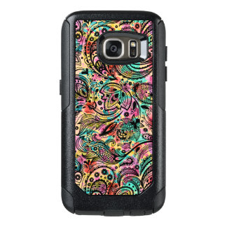 Cool Colorful Vintage Floral Paisley Pattern OtterBox Samsung Galaxy S7 Case