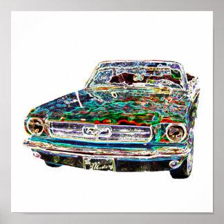 cool colors Car Poster