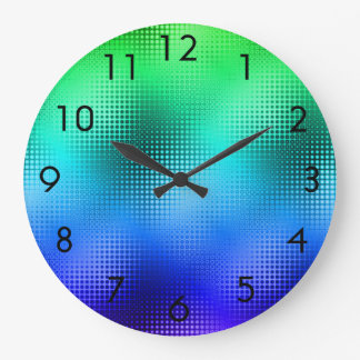 Cool Colors Dot Matrix Large Clock