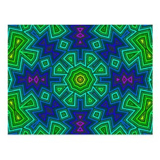 Cool Colors Kaliedscope Postcard