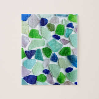 Cool Colors Sea Glass Jigsaw Puzzle