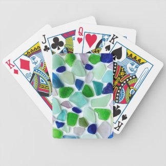 Cool Colors Sea Glass Playing Cards