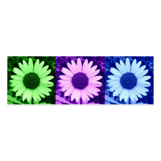 Cool Colors Sunflower Bookmark Business Cards