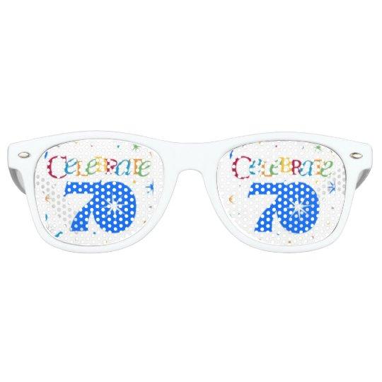 cool coloured celebrate 70 retro sunglasses