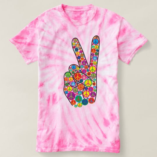 Cool, Colourful, and Groovy Peace Signs T-Shirt