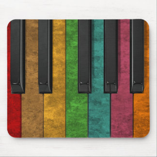 Cool colourful antique grunge effect piano mouse mat