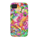 cool colourful bright flowers hearts background iPhone 4/4S cover