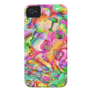cool colourful bright flowers hearts background iPhone 4 Case-Mate cases