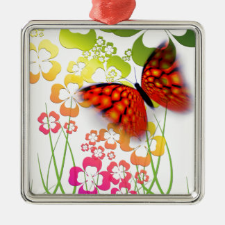 cool colourful butterfly and  clovers christmas ornament