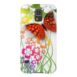 cool colourful butterfly and  clovers galaxy s5 cover