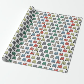 cool colourful classic car wrapping paper