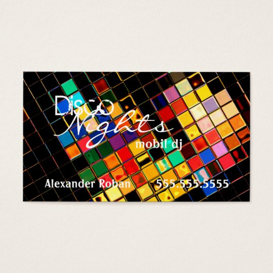 Cool Colourful DJ-Indestructible Business Card