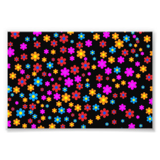Cool colourful floral flowers pattern background art photo