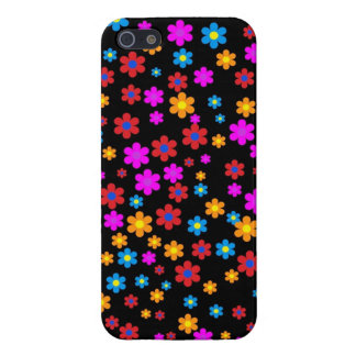 Cool colourful floral flowers pattern background iPhone 5 cover