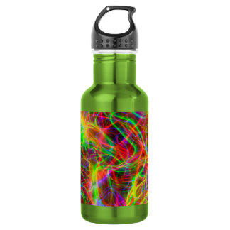 cool colourful fractal 532 ml water bottle