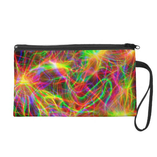 cool colourful fractal wristlet clutches