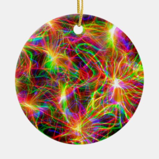 cool colourful fractal ornament