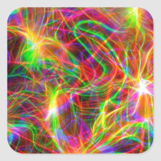 cool colourful fractal square sticker