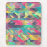 Cool colourful geometric triangles pattern mouse pad