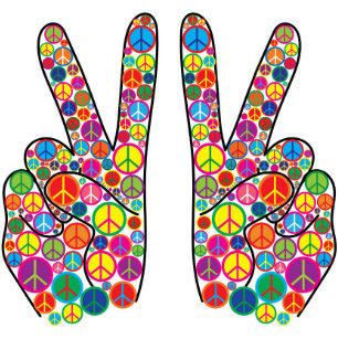 Cool Colourful Groovy Peace Signs Shower Curtain