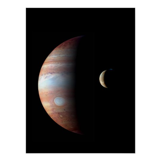 Cool Colourful Jupiter and Io Poster