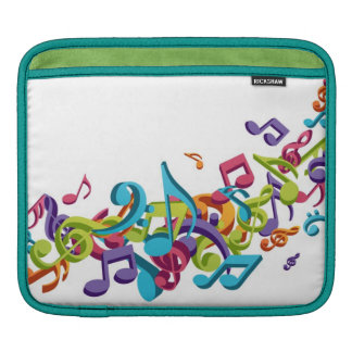 cool colourful music notes and sounds iPad sleeve