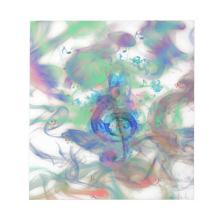 Cool colourful music notes smoke effects image